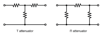 t section and Π section attenuators