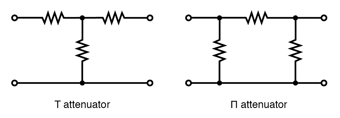 T section and Π section attenuators are common forms.
