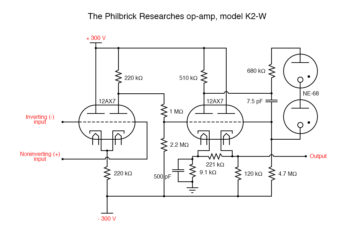 the philbrick researches op amp k2 w1