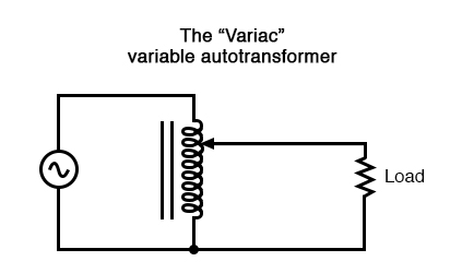 A variac is an autotransformer with a sliding tap.