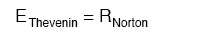 thevenin and norton equation