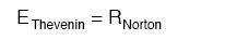 thevenin and norton equation