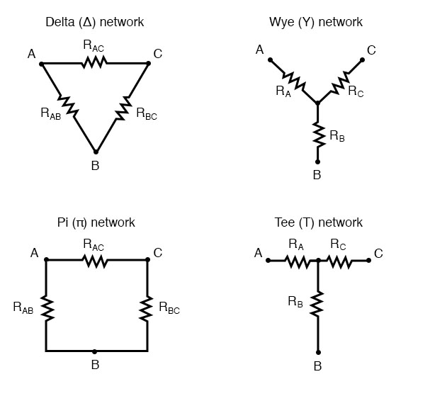 three terminal network diagram