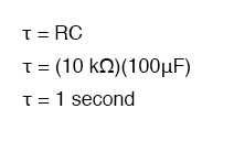 time constant equation1
