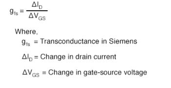 transconductance equation