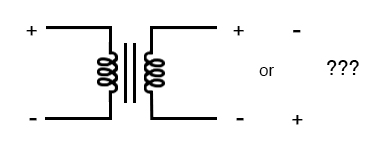 As a practical matter, the polarity of a transformer can be ambiguous.