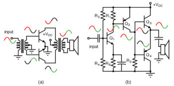 transformer coupled push pull amplifier