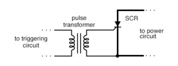 transformer coupling of trigger signal provides isolation
