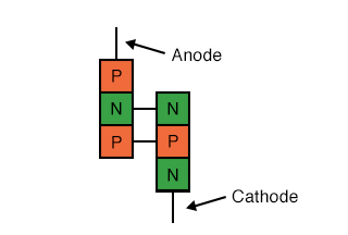 Transistor equivalent of Shockley diode