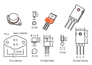 transistor packages dimensions in mm