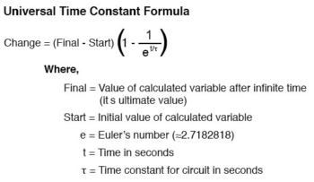 universal time constant formula 2