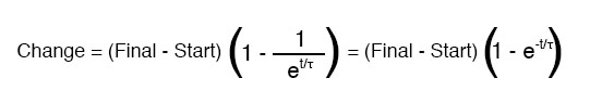 universal time constant formula