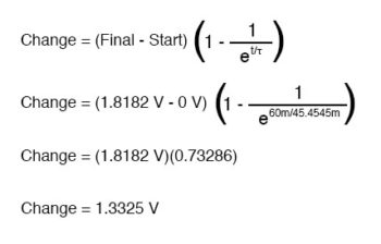 voltage across capacitor calculation