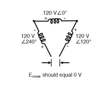 voltage across open delta
