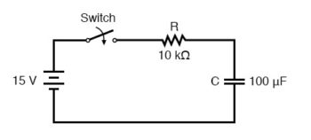 voltage across the capacitor circuit