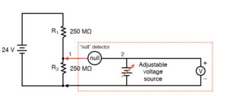 voltage across the lower resistor