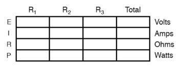 voltage current resistance table