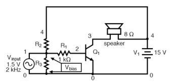 voltage divider bias