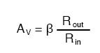 voltage gain common emitter transistor amplifier formula