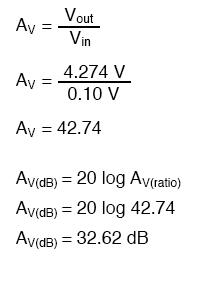 voltage gain equation