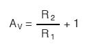 voltage gain formula