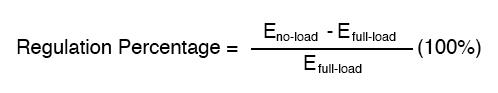 voltage regulation formula