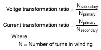 voltage transformation ratio formula 1