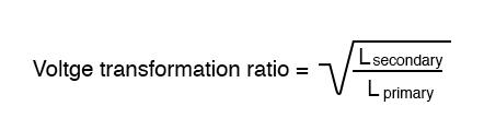 voltage transformation ratio formula