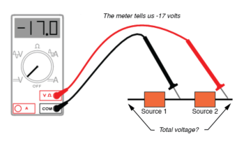 voltmeter reading per test lead connectio image2