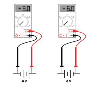 voltmeter reading per test lead connection image1