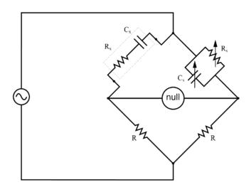 wein bridge real capacitor