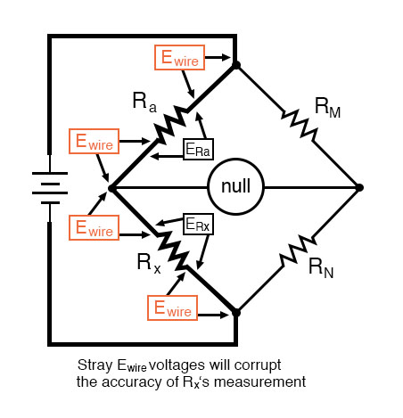 wheatstone bridge measure low resistance example