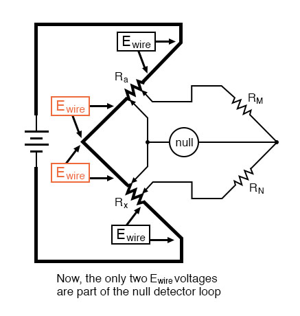 wheatstone bridge null detector example