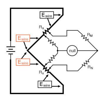 wheatstone bridge null detector example2
