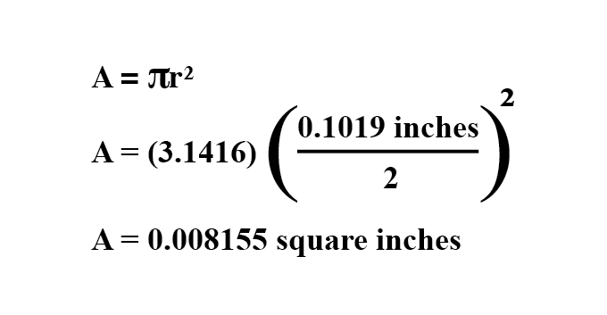 wire cross section formula