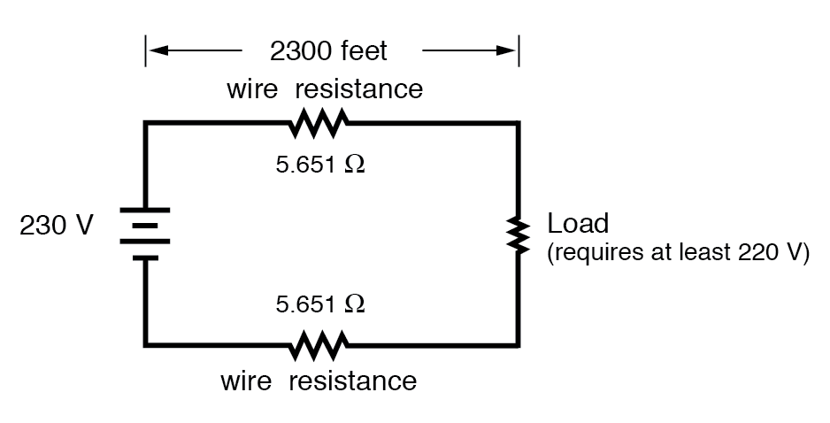wire piece circuit resistance