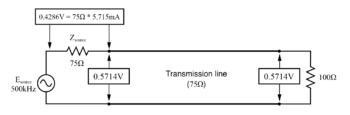 voltage measured between node image3