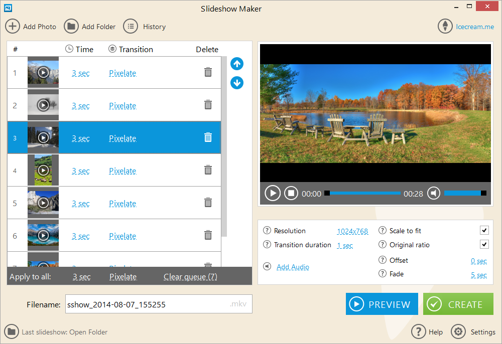 Icecream Slideshow Maker 4.05 free download - Software reviews, downloads,  news, free trials, freeware and full commercial software - Downloadcrew