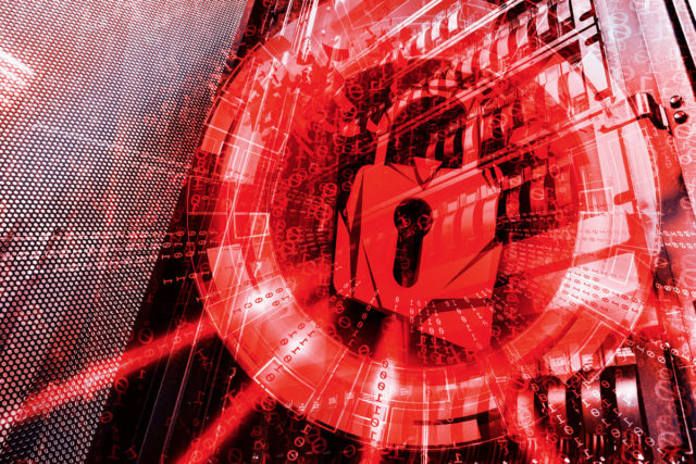 red padlock cybersecurity threat ransomeware 100751597 large